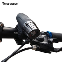 WEST BIKING Cycling Riding USB Charger 4 Modes 200 Lumens Lamp Handlebar Bicycle LED Front Lights