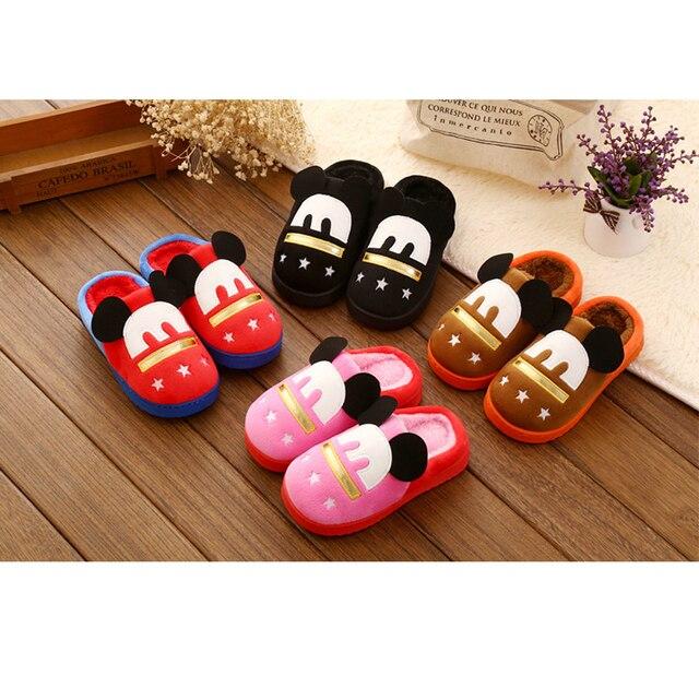 Winter Children Shoes Boys Girls Slippers Cute pantoufle enfant Kids Cartoon Home Shoes Comfortable Warm Winter kids slippers