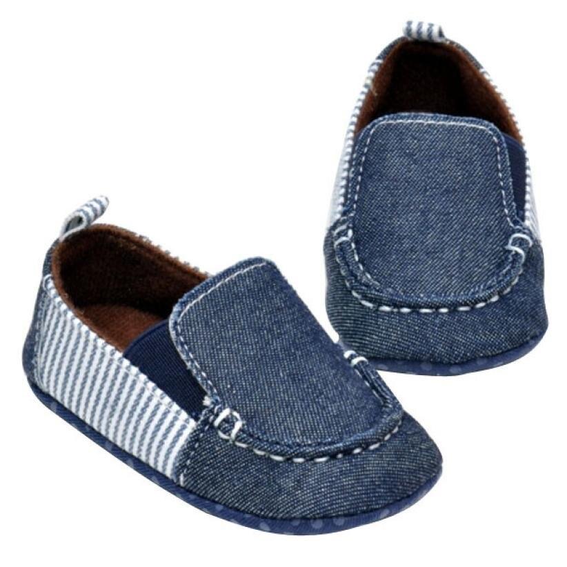 Primavera Primeros Caminante Suaves Únicos Zapatos de Bebé de Algodón de Vaquero