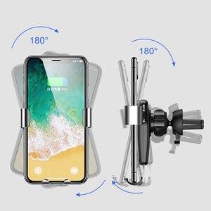 Image 3 - Arvin Auto Telefon Halter Drahtlose Ladegerät Stehen Für iPhone X XR Samsung Automatische Intelligente Schwerkraft Verknüpfung Schnell Ladegerät Montieren