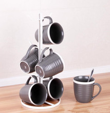 Fashion six claw metal Coffee Tea Cup display stand rack Kitchen Mug Hanging holder dripping water cup Drinkware storage Shelf