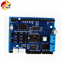 Official DOIT Robot Tank Car Chassis Motor Shield Driven Board with L298P for Arduino UNO R3