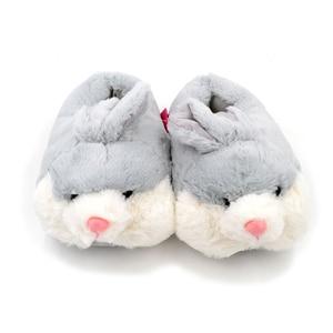 Image 4 - Millffy lovely pink rabbit plush winter warm velvet slippers comfortable indoor shoes hamster bunny slippers cat plush slippers