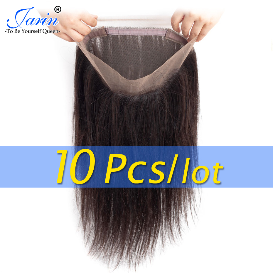 10 Pieces lot Peruvian 360 Lace Frontal 100 Human Hair 70 pc Remy Hair Pre Plucked
