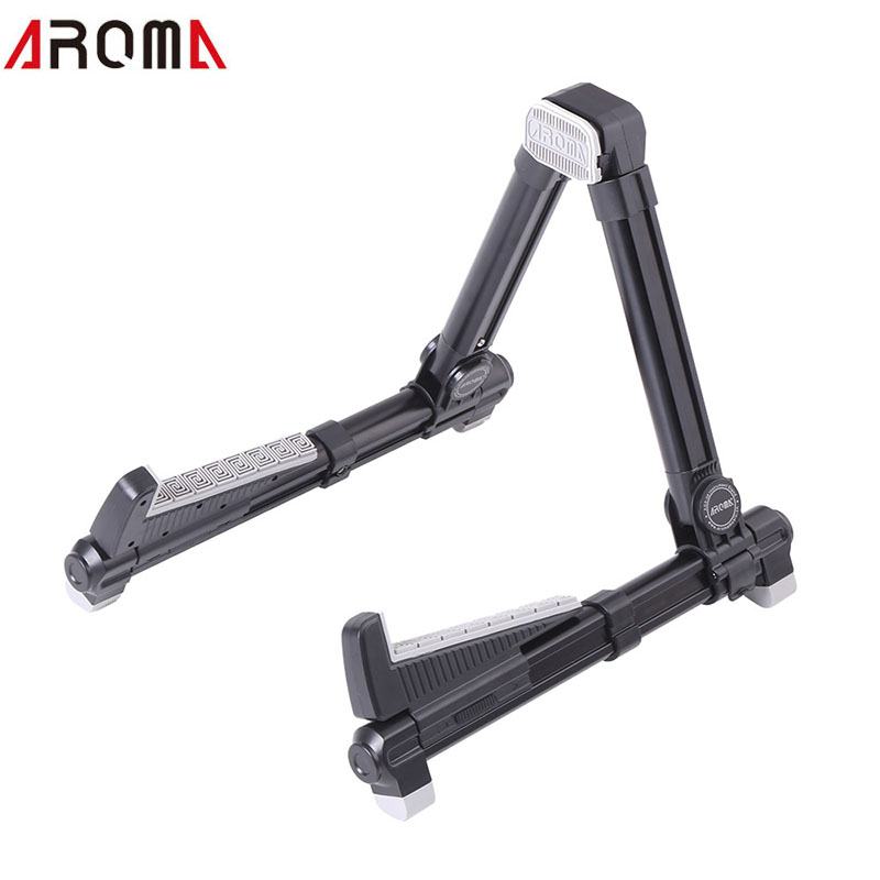 AROMA Folding Adjustable Guitar Stand Aluminum Alloy A-Frame Stand Universal for Banjo Guitar Ukulele Bass Mandolin folding a frame guitar stand rack