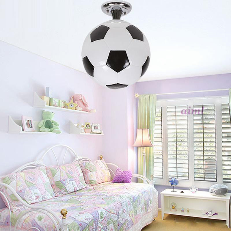 New Fashion Boy S Room Football Ceiling Lamp Cute Cartoon
