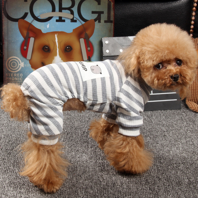 Striped Jumpsuit for Dogs 1