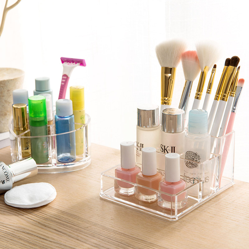 Transparent Cosmetic Storage Box Dresser Lipstick Cosmetic Case Desktop Makeup Brush Skin Care Shelf