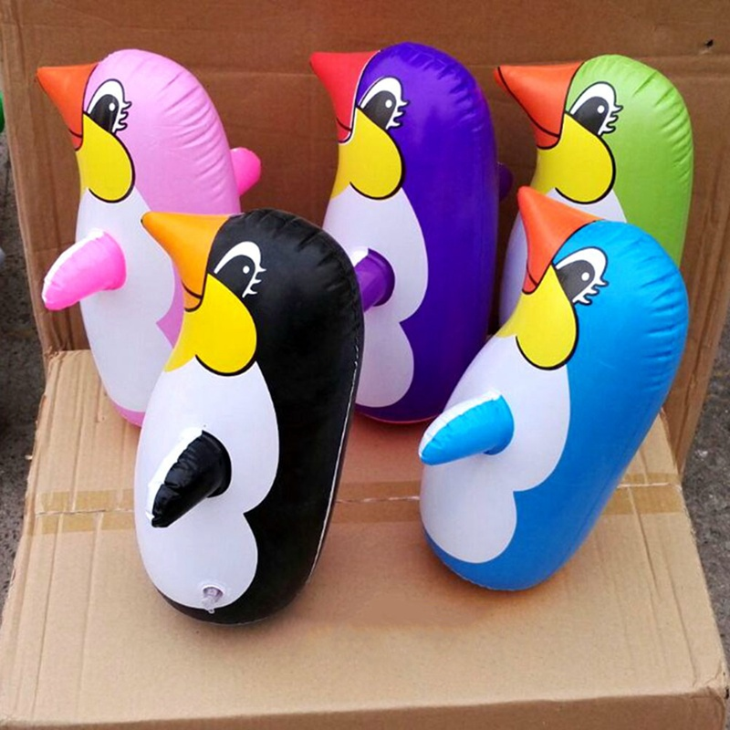 Inflatable Penguin Toy Penguin Tumbler Children Pinguino Inflatable Toys Animal Balloon 36CM Educational Cognitive Toys