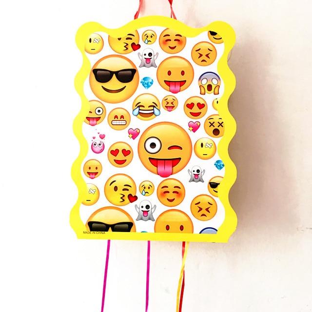 1set Lot Emoji Folding Pinata Kids Birthday Party Game Decoration Funny Supplies