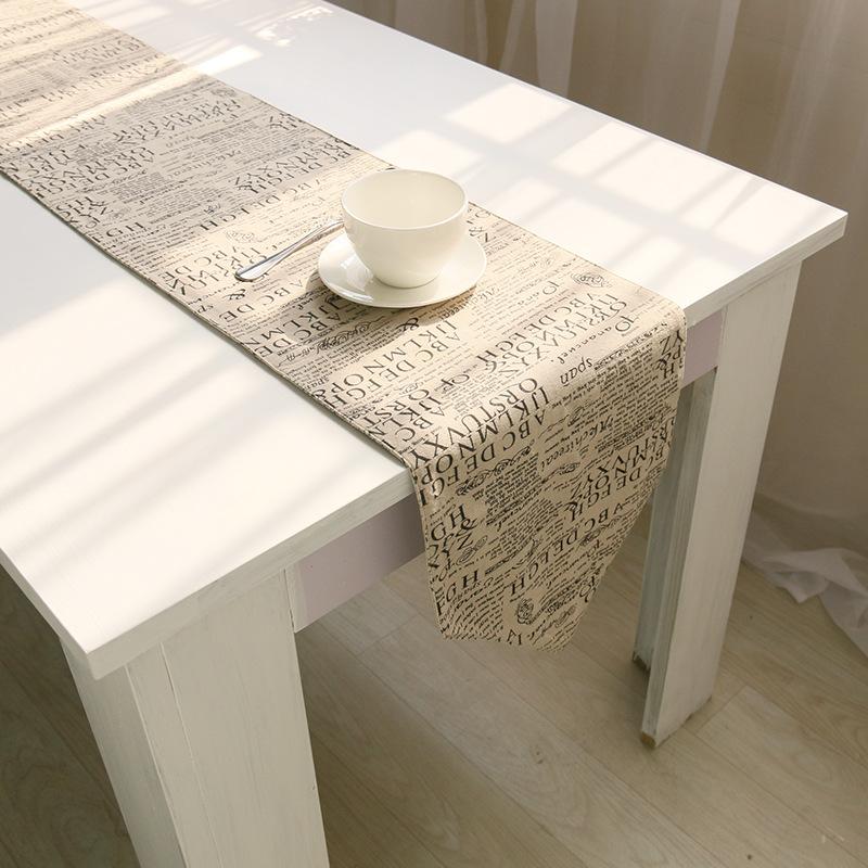 camino de mesa de algodn de lino impreso tejido europeo tamao 30180