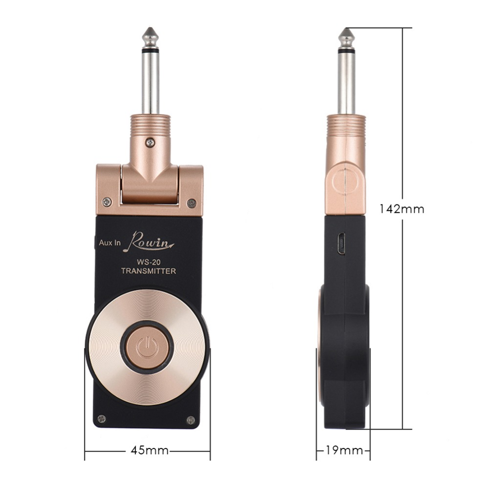 WS 20 2.4G Wireless Guitar Transmitter System Rechargeable Electric Guitar Transmitter Receiver Set 30 Meters Transmission Range-in Electric Instrument Parts & Accessories from Sports & Entertainment    2