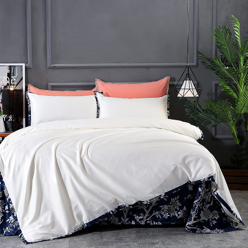 Solid Orange Coffee Brown White Color Bedding set Egyptian Cotton Tribute silk King Queen size Duvet cover Bed sheet set 36Solid Orange Coffee Brown White Color Bedding set Egyptian Cotton Tribute silk King Queen size Duvet cover Bed sheet set 36