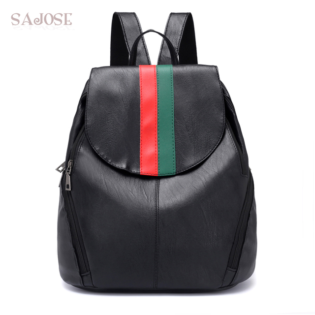0bfdc557fc Women Leather backpack Famous Brand Fashion Simple School Bag Backpacks  Designers Female Shoulder Bag Student Bag Drop Shipping. Price