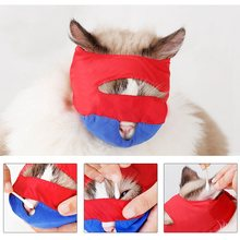 Kat Anti Bite Masker Puppy Bad Beauty Grooming Levert Kat Grooming Snuit Voorkomen Bijten Krabben Pet Kalmerende Mond Cover(China)