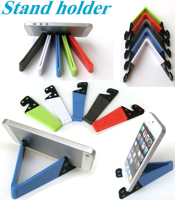 Mulit colorful foldable mobile phone holder stand For iphone 5/iphone 4S/Nexus 7/Kindle fire 2/ i9300 S3 Free shipping 6 Colors