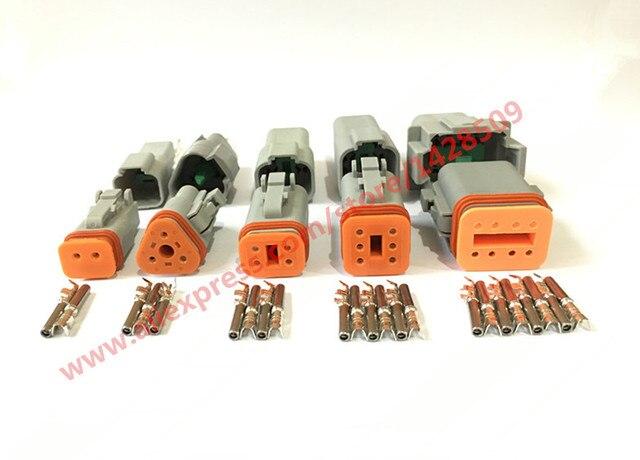47195467f8121b 5 Sets waterproof electrical connector deutsch DT connector DT06 DT04 2 3 4