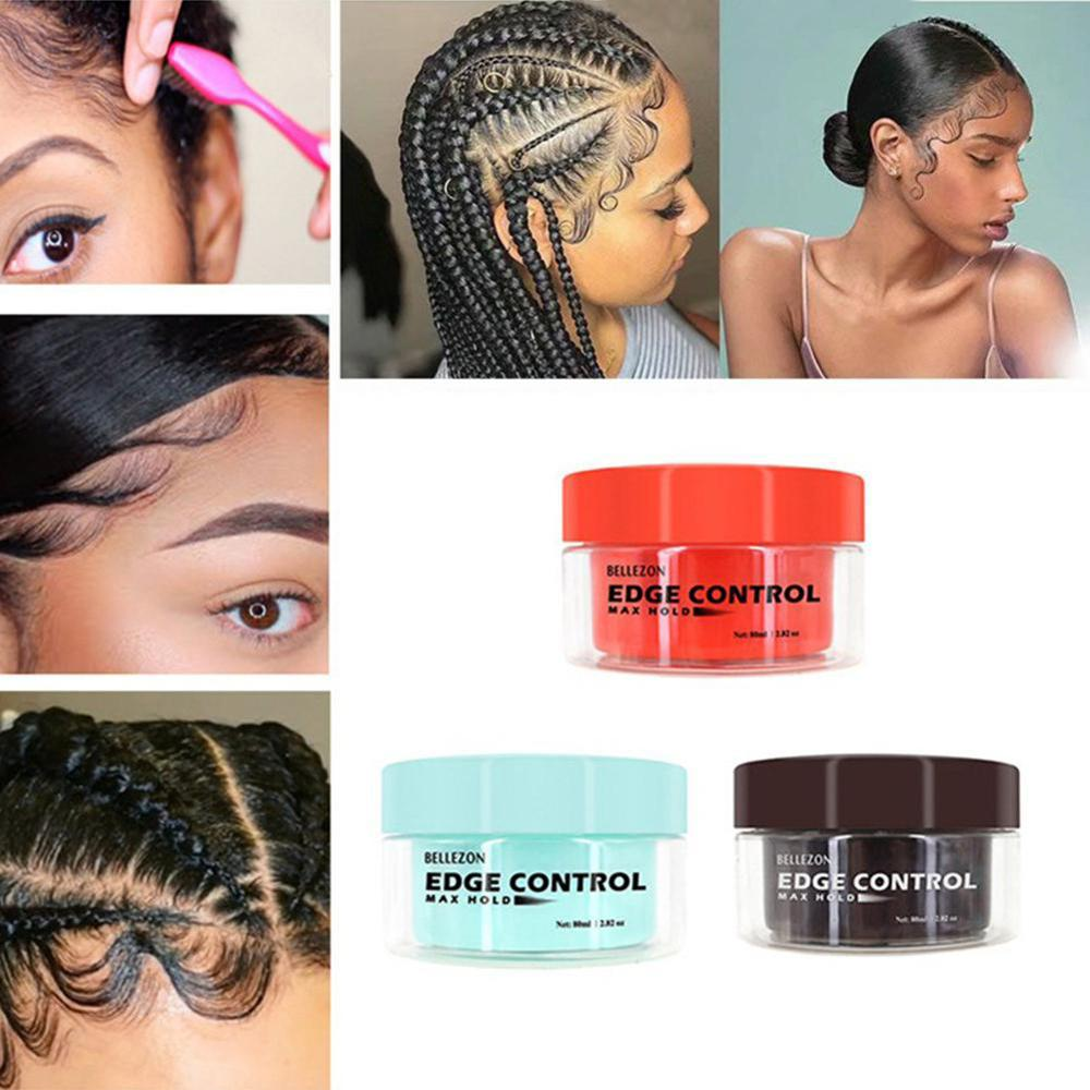 120g Men Female Hair Oil Wax Cream Edge Control Broken Hair Finishing Anti Frizz Hair Fixative Gel