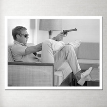 Steve Mcqueen Photo Canvas Poster Painting Modern Abstract on Decorative Pictures Hand Made Panels Y-03