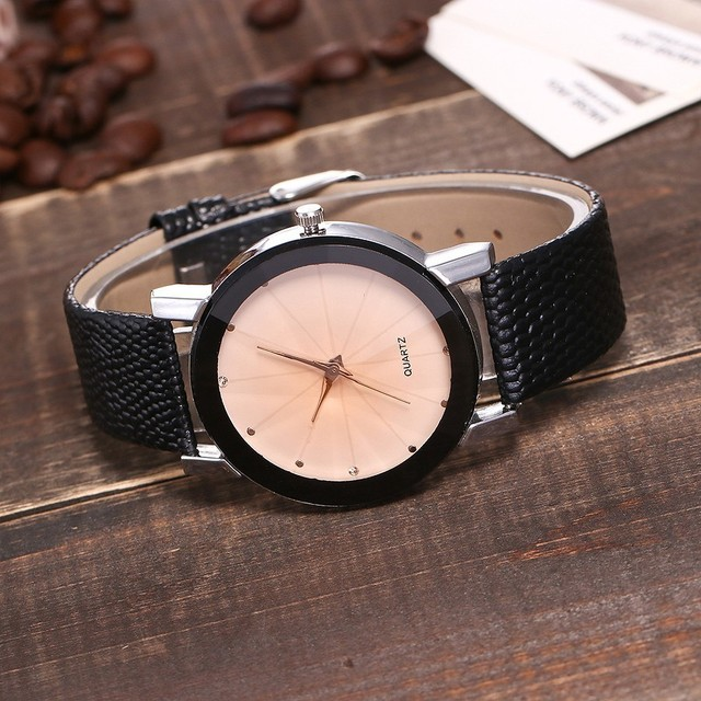 Black Casual Simple Quartz Clock Watch 5
