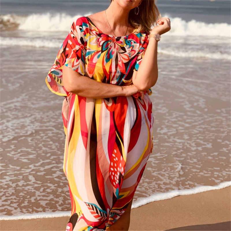 Наряд кафтан на пляж парео саронг пикантные Cover-Up шифон Купальники Бикини Туника купальник накидка на купальный костюм; Robe De Plage # Q97