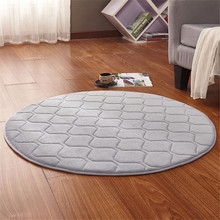 New Fashion Home Decor Memory Foam Solid Round Grid Mat Area rug Anti-slip Bedroom Rugs Mats Carpet  For Living Room Outdoor