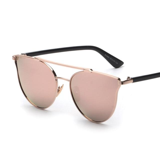 designer mirrored sunglasses f5ex  Contain Rose Gold!2016 New Fashion Brand Alloy Mirror Sunglasses Cosy  Shades Men Women Designer