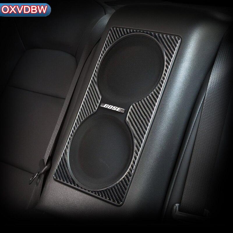 Внутренняя отделка из углеродного волокна задняя акустическая панель декоративная 3D индивидуальная наклейка автомобильный Стайлинг для