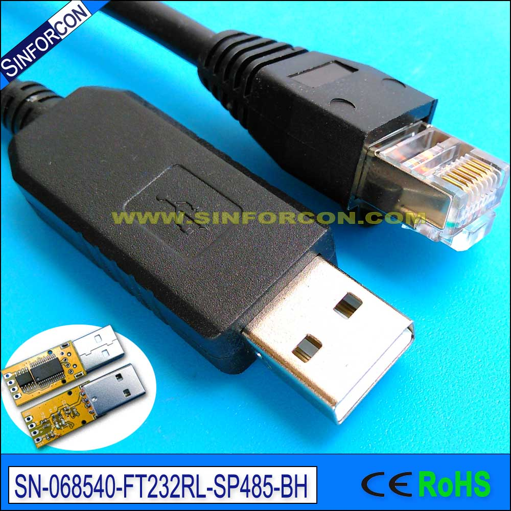hight resolution of 6ft usb to rs 485 converter cable ftdi ft232 rs485 rj11 rj12 rhaliexpress rj25 wiring