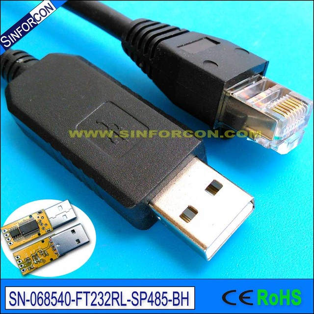 6ft usb to rs 485 converter cable ftdi ft232 usb rs485 to rj11 rj12 ...