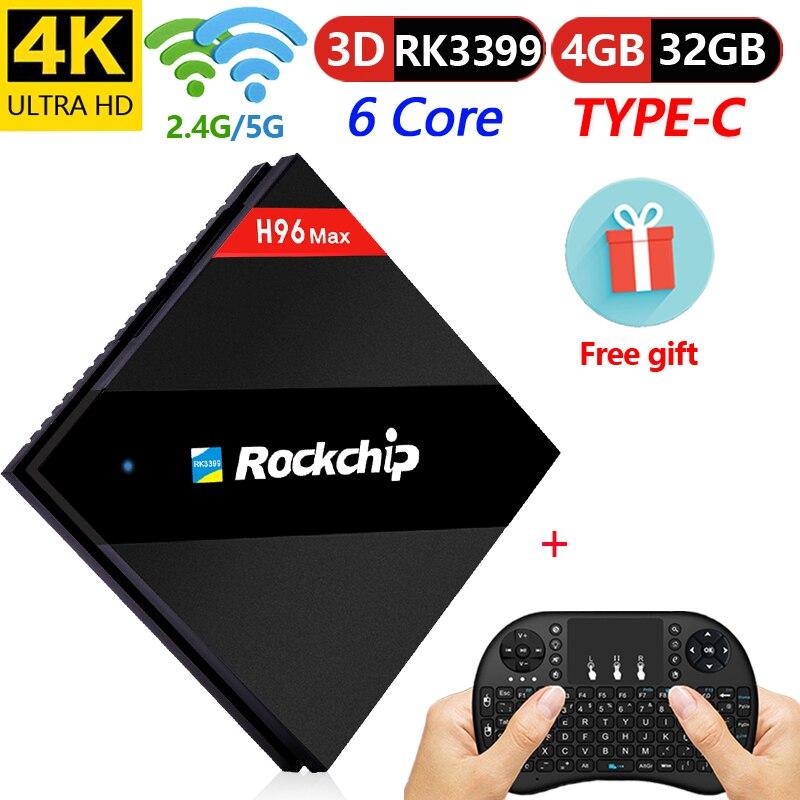 H96 max 4 gb 32 gb RK3399 Intelligent Android TV Box 7 1 Dual WiFi BT4