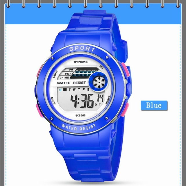 SYNOKE Sport Student Children Watch Kids Watches Boys Girls Clock Child LED Digital Wristwatch Electronic Wrist Watch for Boy Gi