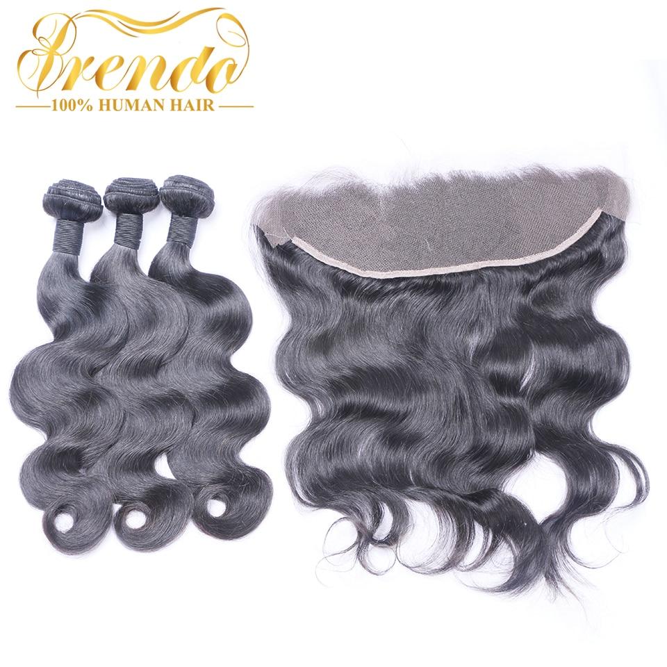 Brazilian Hair Bundles With Frontal Body Wave Human Hair With Frontal Brenda Non Remy Hair 3