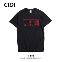 Marvel Superhero Customize Printed Casual Mens Short Sleeve T Shirt Top Quality Funny Clothes 2017 Cheapest