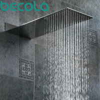 BECOLA Bathroom Shower Heads Into The Wall Concealed Shower Nozzle Ultra Thin Stainless Steel Shower Head Faucet BR 9906