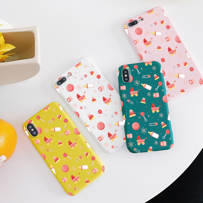 Baby bottles Carriages Lollipop Silicone TPU Cases for iphone 6 6S 7 8 Plus 5 5s SE Candy Soft Back Cover For iPhone X XR XS MAX