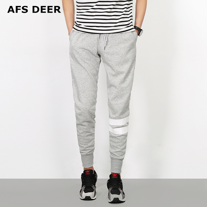 AFS DEER Brand 2018 Spring Fashion Sweatpants Men Cotton Sweat Pants High Quality Knitted Harem Pants Male Trousers