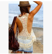 Crochet sweater blouse beach bikinis cover openwork lace mesh knitted protective clothing beach dress