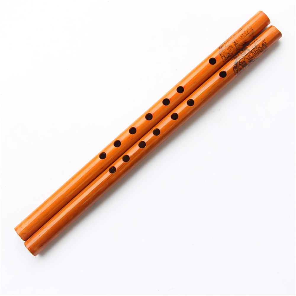 New 1pcs Bamboo Handmade Creative New 6-Hole Wood Color Musical Clarinet Chinese Traditional Flute Student Children Instruments