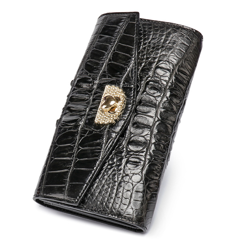 100% genuine alligator skin leather women wallet crocodile leather skin wallets and purse luxury money clip long wallet fasiqi crocodile leather wallet soft skin fashion man wallet long wallet multi card money clip hand bag male business leather