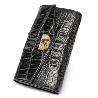 100% genuine alligator skin leather women wallet crocodile leather skin wallets and purse luxury money clip long wallet