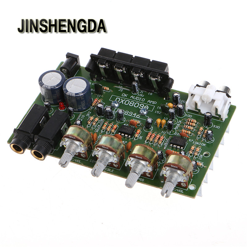 JINSHENGDA Amplifier 12V 60W Stereo Digital Audio Power Amplifier Board Electronic Circuit Module DIY
