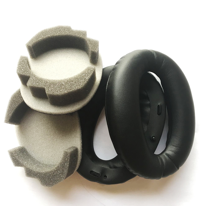 1 pair Leather Earpads Pillow <font><b>Headphone</b></font> Ear Pads Cushions for <font><b>SONY</b></font> WH1000XM2 WH-1000XM2 <font><b>MDR</b></font>-<font><b>1000X</b></font> <font><b>MDR</b></font> <font><b>1000X</b></font> <font><b>Headphones</b></font> image