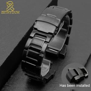 Image 5 - Solido cinturino in acciaio inox per GW 3500B/GW 3000B/GW 2000/G 1000 cinturino nero della fascia Del Braccialetto
