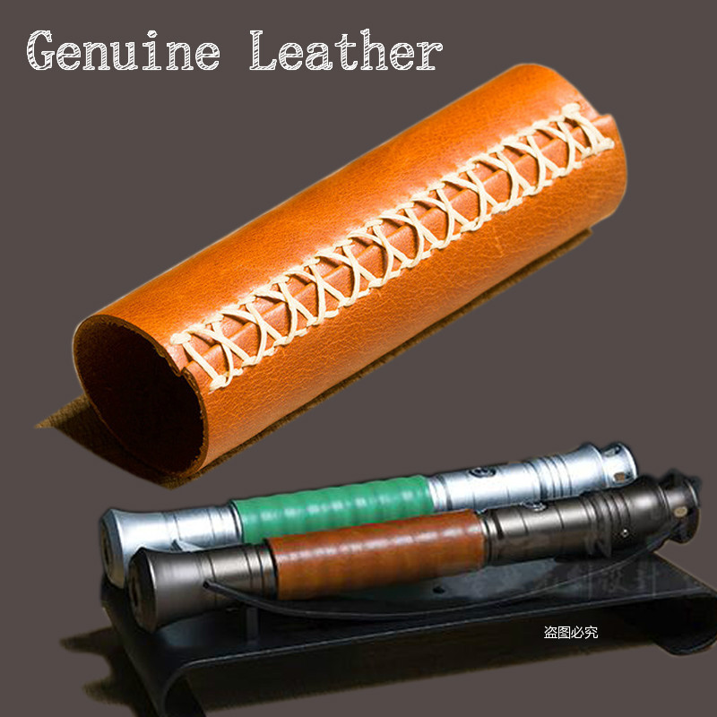 Lightsaber Cover Wars Laser Sword Leather Cover Hand-made Hand Holder Sleeve Metal Grinded Handle Sleeve Package