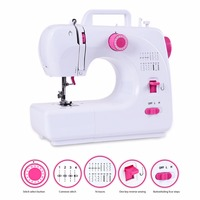 Fanghua Multifunctional 16 Stitches Portable Household Mini Sewing Machine Electric Sewing Machine Replaceable Press Foot Pedal