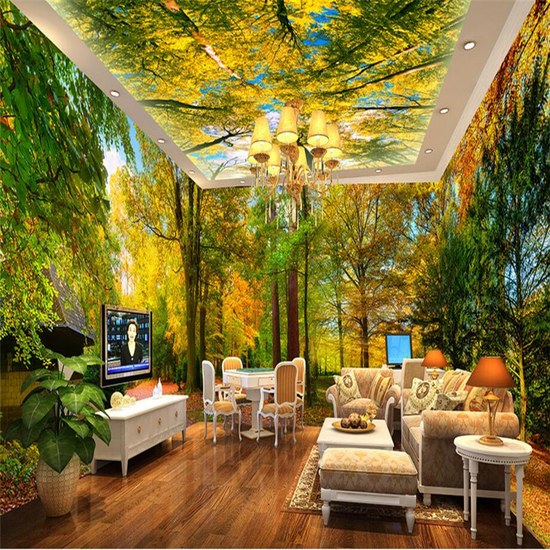 Beibehang Forest Park Custom Papel De Parede 3D Mural Wallpaper For Walls Background Wall Paper Home