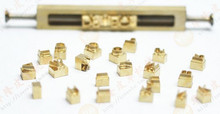 10mm tall copper brass alphabets molds 26pcs from A to Z with clamp fixture + 20 numbers, hot stamping