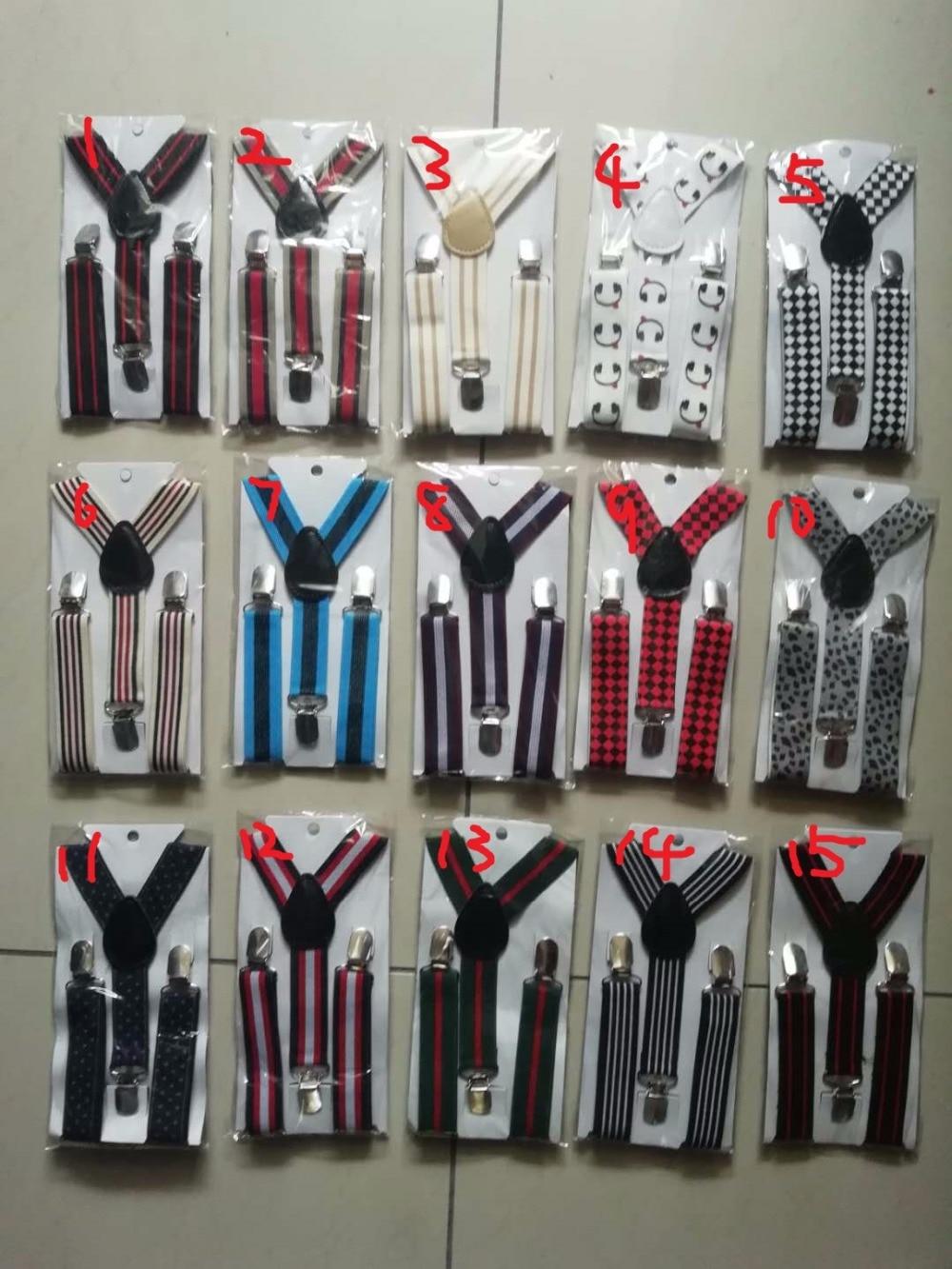 Boys Kids Suspenders Elastic Y-back Adjustable Braces Printed Trousers Clip on