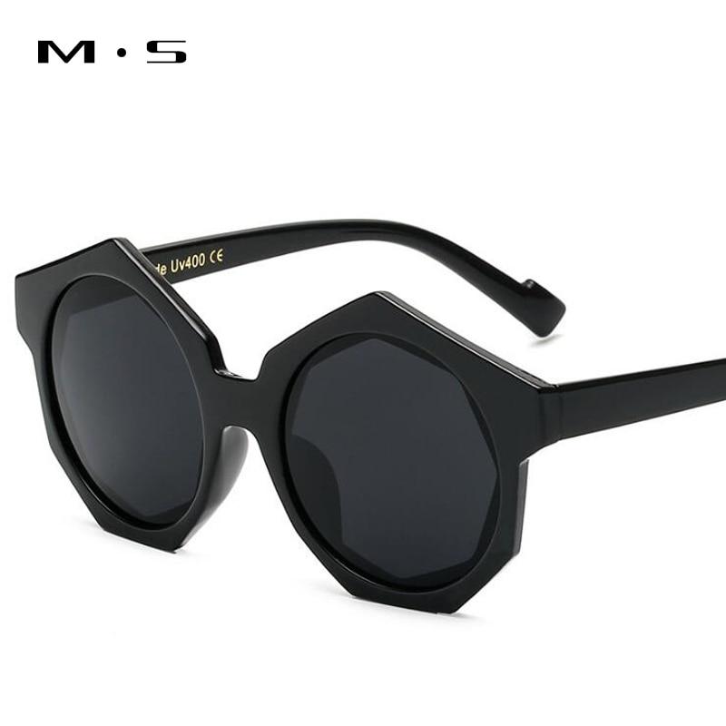 MS Vintage Round Sunglasses Women or Man Fashion Designer Eyewear UV400 Female Sun Glasses Brand Points Sun Girl